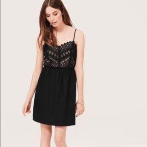 LOFT lace/linen dress, size 14